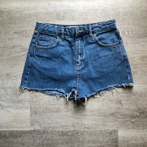 Topshop Moto Mom Jeans shorts size 4
